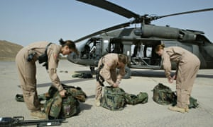 US women Blackhawk helicopter pilots in Iraq