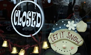 Closed shop at christmas