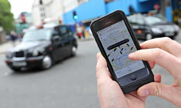 smartphone and black cab