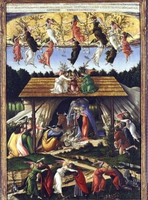 Mystic Nativity by Sandro Botticelli.