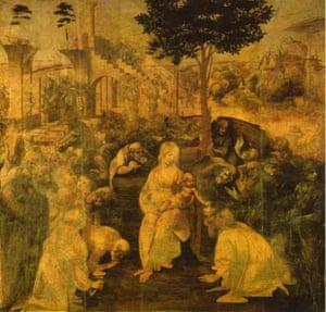 Adoration of the Magi by Leonardo da Vinci.