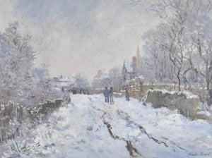 Snow Scene at Argenteuil by Claude-Oscar Monet