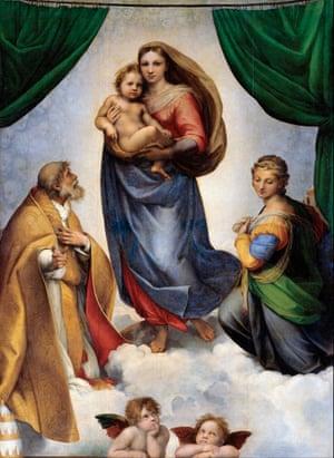 The Sistine Madonna, 1512-13, by Raphael
