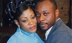 Jimmy Mubenga with his wife, Adrienne Makenda.