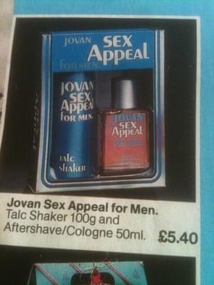 Boots catalogue  Jovan Sex Appeal for men cologne