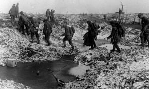 """""""No sooner is a trench dug than it fills with water."""" The misery of life in the trenches was made even worse by atrocious weather."""
