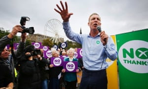 Jim Murphy on the campaigh trail before this year's Scottish independence referendum.