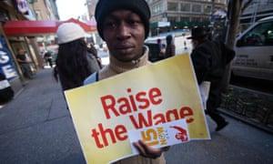 minimum wage protest McDonald's