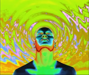 An artistic representation of the psychedelic effects of LSD.