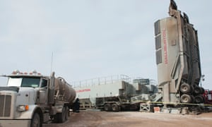 A fracking operation near Williston, North Dakota.