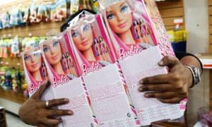 Barbie dolls on sale.