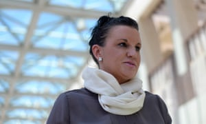In post PUP white, Senator Jacqui Lambie speaks to the media outside Parliament House in Canberra, Monday, Dec. 01, 2014.
