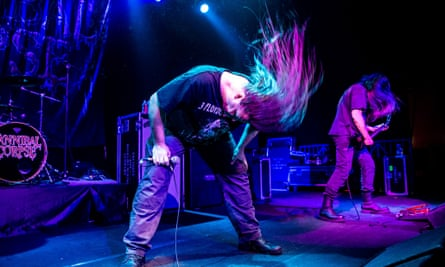 American death metal band Cannibal Corpse performs live at Alcatraz in Milano, Italy