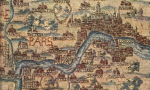 An English tapestry map of London, from the mid 17th century.