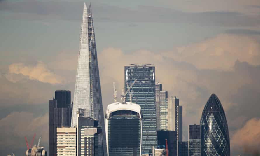 London's financial district is dominated by skyscrapers from the Gherkin to the Walkie-Talkie and the Shard