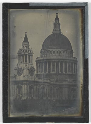 Daguerreotype of St Paul's Cathedral, 1840s, by an anonymous photographer