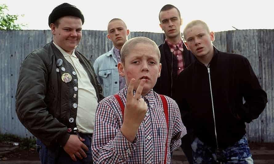 Jack O'Connell as Pukey with the This is England cast