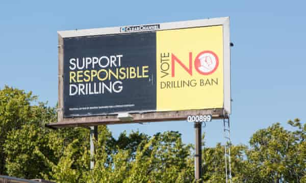 A billboard urges voters to back the ban.