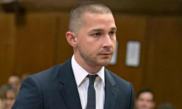 Shia Labeouf in court last month.