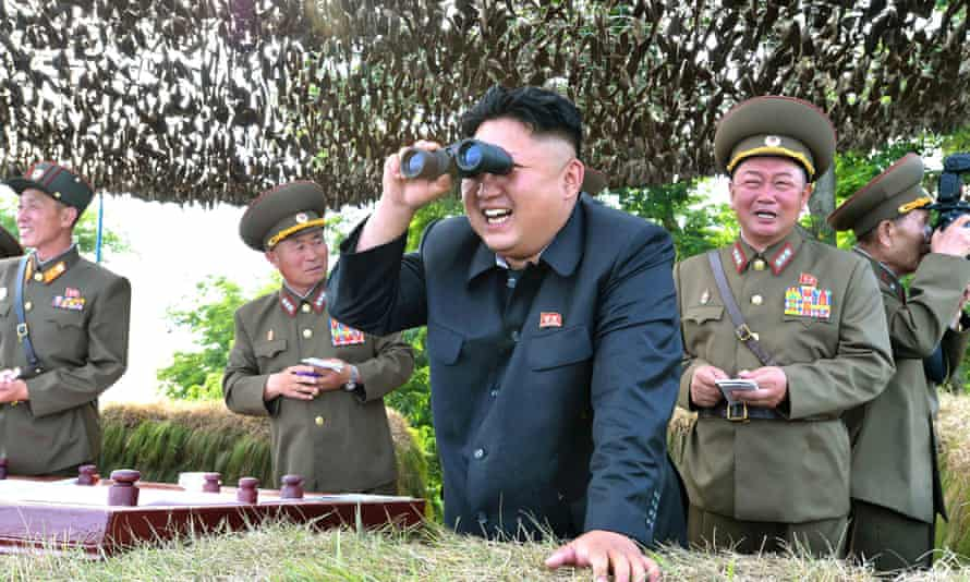 Watchful … Kim Jong Un, North Korean leader, is the subject of a spoof film due to be released by Sony Pictures.