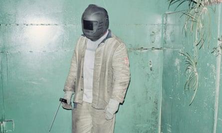 Belarus's best welder, Sasha, from Rafael Milach's 'witty' The Winners.