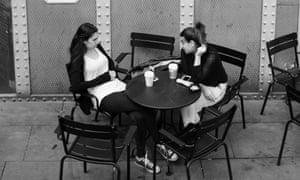 Women talking together at a table