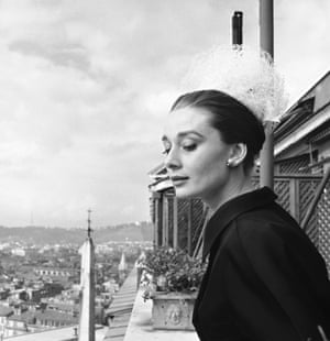 Hepburn captured in Rome in 1960.