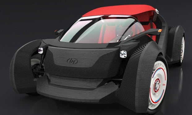 the 3D printed car