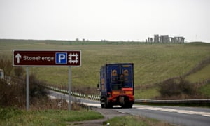 The A303 at Stonehenge in Wiltshire, where a tunnel is to built for the road where it passes the anc