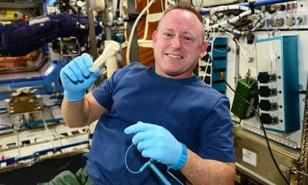 ISS commander Barry 'Butch' Wilmore with the finished socket wrench.