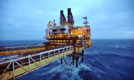A BP rig in the Eastern Trough Area project, about 100 miles east of Aberdeen, Scotland.