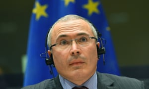 Mihail Khodorkovsky addresses the committee on foreign affairs at the European parliament at the beginning of December.