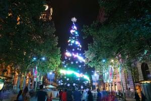 St Martin Place's Christmas Tree, Sydney, Australia