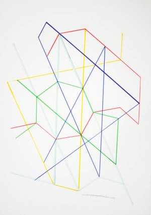 Monir Shahroudy Farmanfarmaian, variation on a Hexagon 14, 1976 Pencil on paper51 x 35.5 cm Courtesy of the artist and The Third Line, Dubai