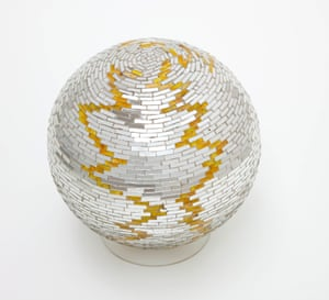 Monir Shahroudy Farmanfarmaian, Mirror Ball, 1973. Mirror work on plaster ball 19 x 19 x 19 cm, Collection Nima Isham, Montana Filipe Braga Fundao de Serralves Museum of Contemporary Art, Porto