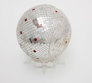 Monir Shahroudy Farmanfarmaian, Mirror Ball, 1973. Mirror work on plaster ball 22,5 x 23 x 23 cm. Collection of the artist. Filipe Braga Fundao de Serralves Museum of Contemporary Art, Porto