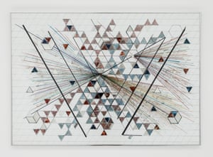 Monir Shahroudy Farmanfarmaian, Untitled, 2012. Felt pen on paper 70 x 100 cm. Courtesy of the artist and The Third Line, Dubai