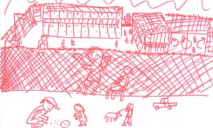Christmas Island images drawn on children