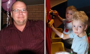 Steven Van Lonkhuyzen, 37, and his two sons, Ethan, 7 and Timothy 5