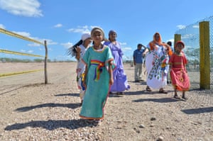 Guajira, Colombia Wayuu natives at a declaration for the new protected Portete Kaurrele Natural National Park
