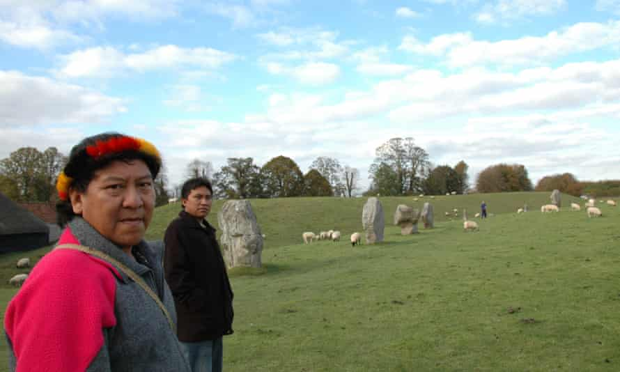 Davi during his 2007 visit to the UK on a trip to Avebury.