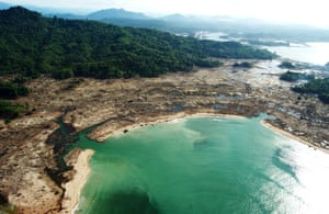 Aerial shots of Banda Aceh in Indonesia and of the west coast taken 18 January 2005