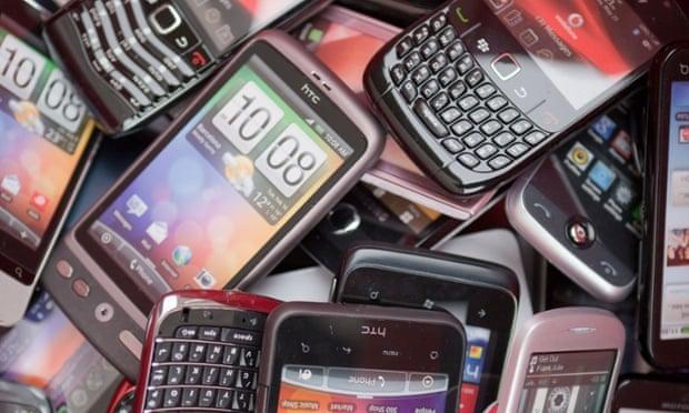 Pile of smartphones HTC