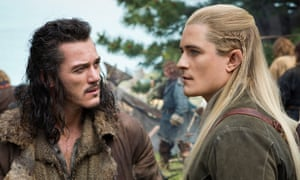 Luke Evans and Orlando Bloom in The Hobbit The Battle of the Five Armies.