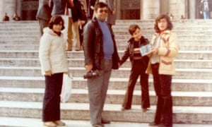 Alex Andreou and family outside St Peter's in Rome
