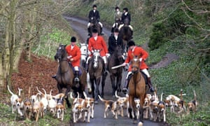 Members of the Derwent Hunt near Pickering, North Yorkshire in January 2001