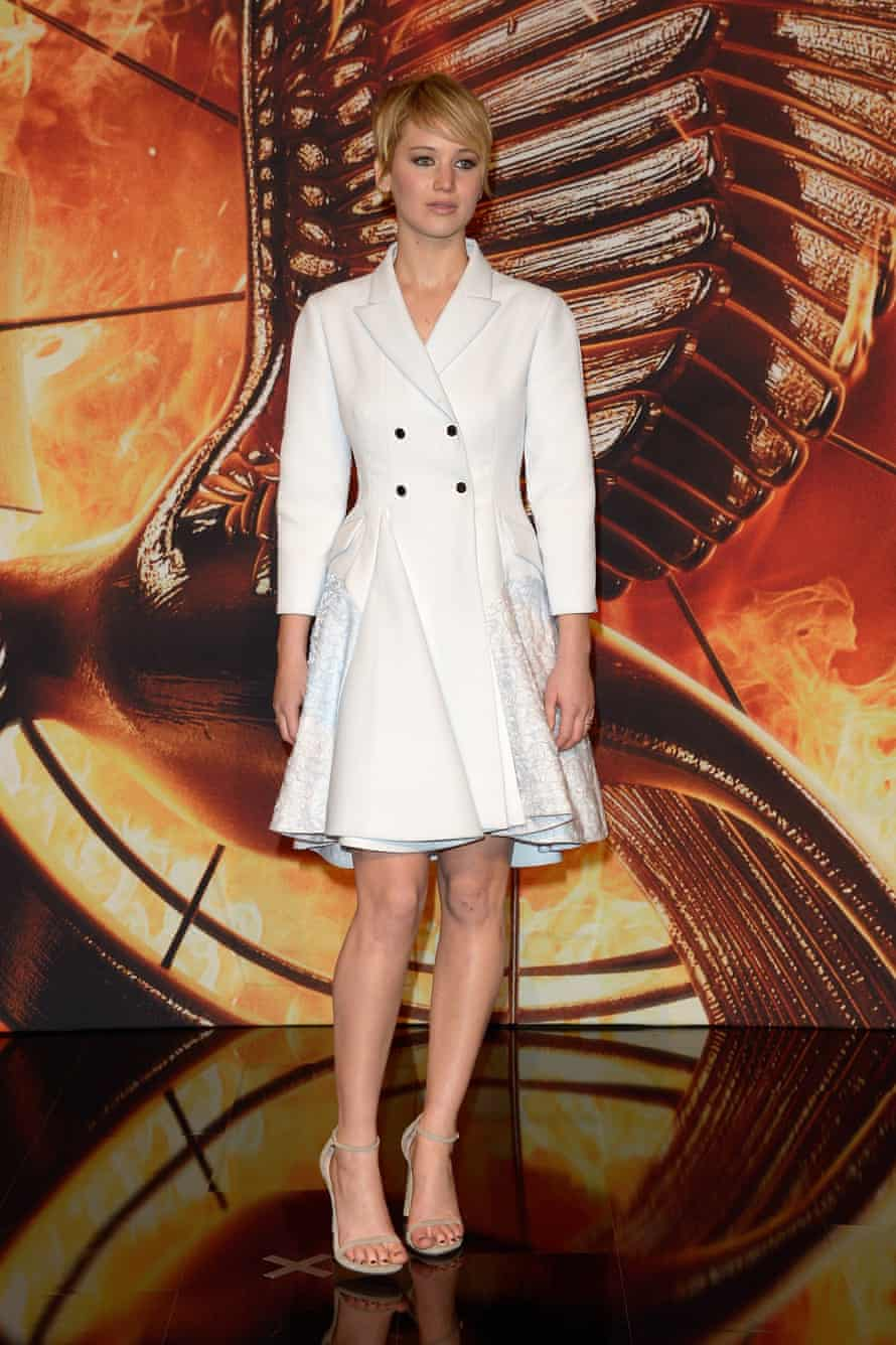 Jennifer Lawrence wearing the Nudist at the Catching Fire premiere in Berlin.