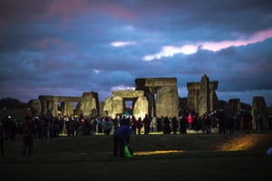 Crowds gather to celebrate the Winter solstice at Stonehenge