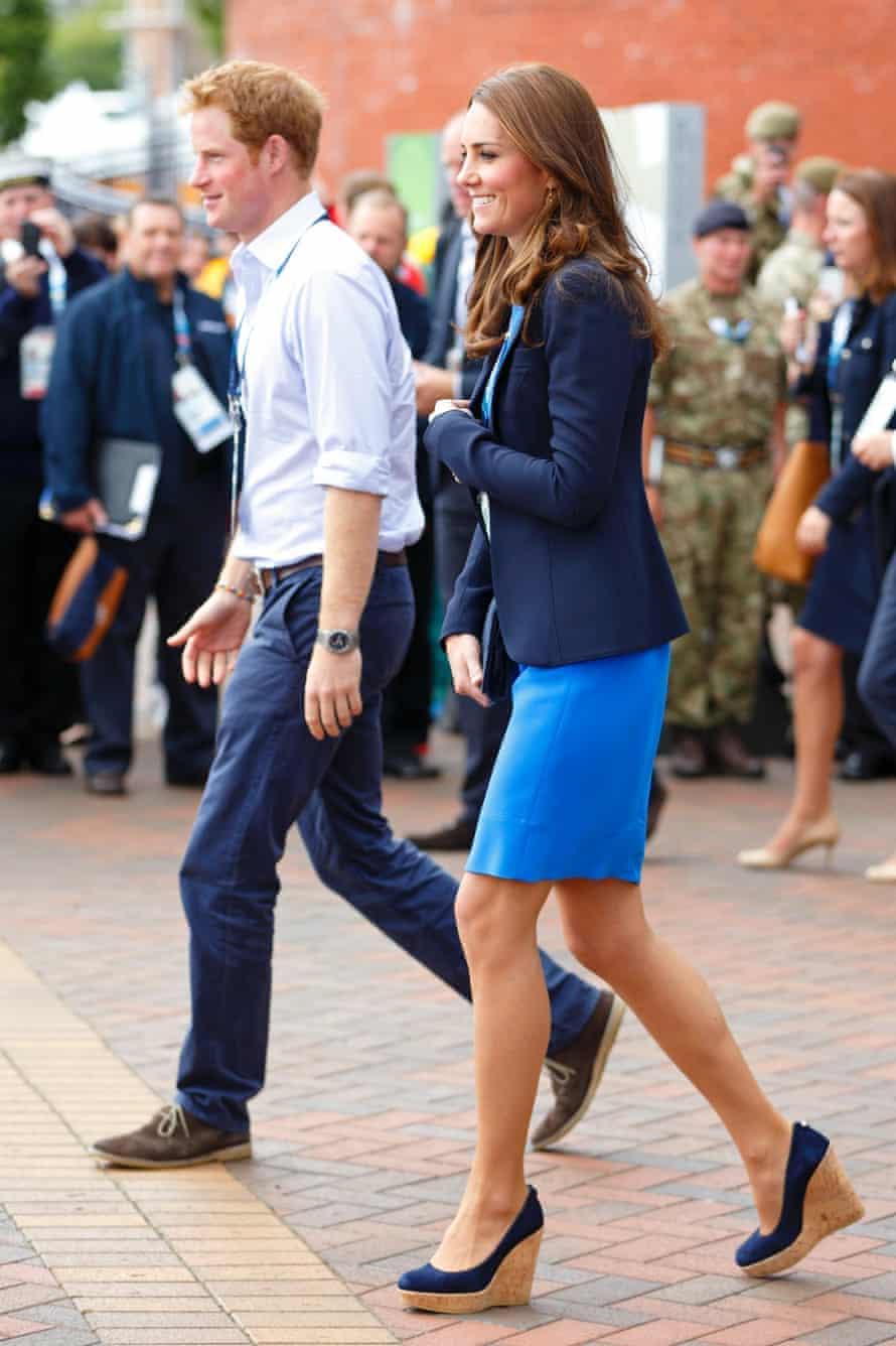 The Duchess of Cambridge in her Stuart Weitzman wedges.