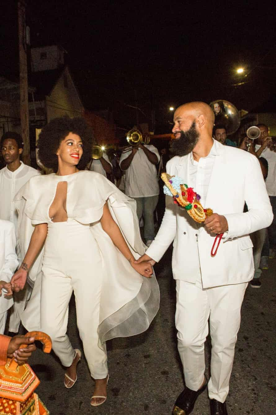 Solange wore a lower-heeled version of the Nudist – called the Naked – on her wedding day.